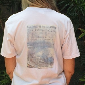 Back image of french book festival tshirt